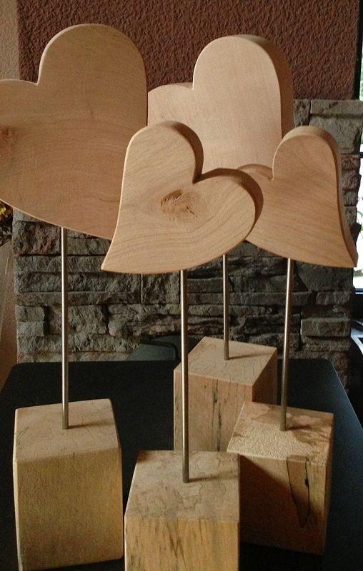 Herz-Standfuß, Größe 2, Höhe 52 cm, Holzdeko