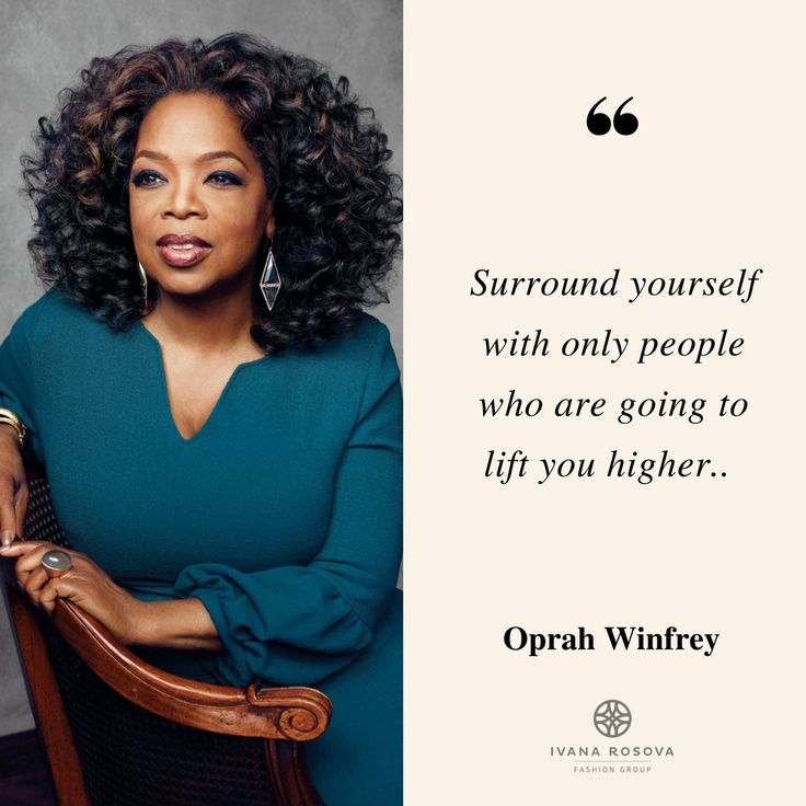 Oprah Winfrey's motivational quote for successful businesswomen.  #IWearIvanaRosova www.ivanarosova.com
