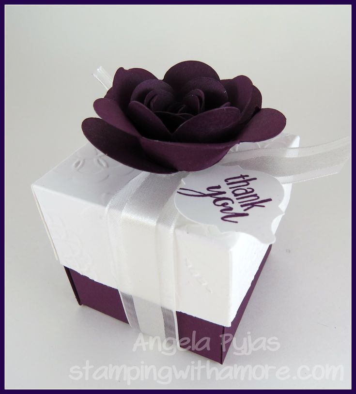 Wedding Favor Box For More Papercrafting Ideas Visit