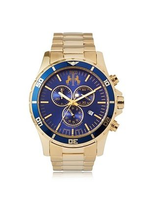 67% OFF Jivago Men's JV6125 Ultimate Gold/Blue Stainless Steel Watch