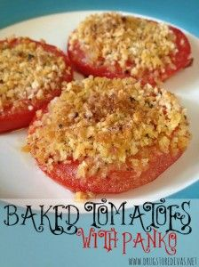 Baked Tomatoes With Panko #recipe