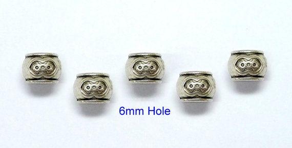 6x6mm hole Tibetan Silver DREADLOCK BEADSBeard ring by artstudio88
