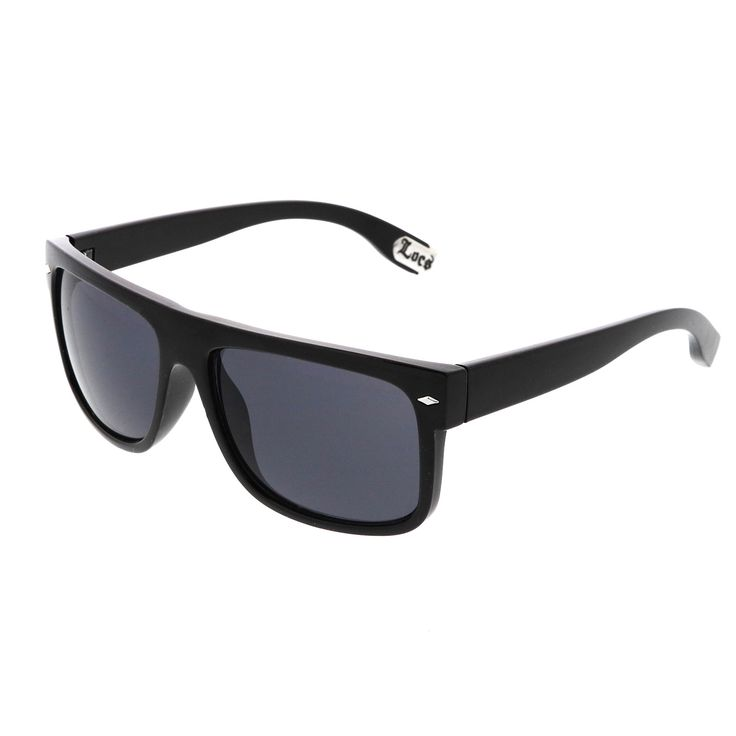 Hip Hop Flat Top Dark Blacked Out Square Lens Horn Rimmed Authentic LOCS Sunglasses 54mm  #sunglasses #sunglass #frame #clear #cateye #purple #womens #mirrored #sunglassla #bold