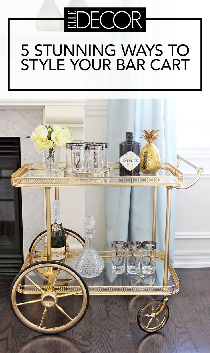 Bar carts don't always live up to their potential, with function beating out form more often than not. (Their main purpose is right there in the name, after all.) But by adding in a few key accessories (and a little extra thought), your bar cart can truly become a focal point.