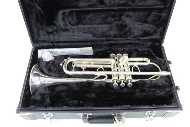 Jupiter Quantum 5000S Marching Trumpet in Silver Plate NICE