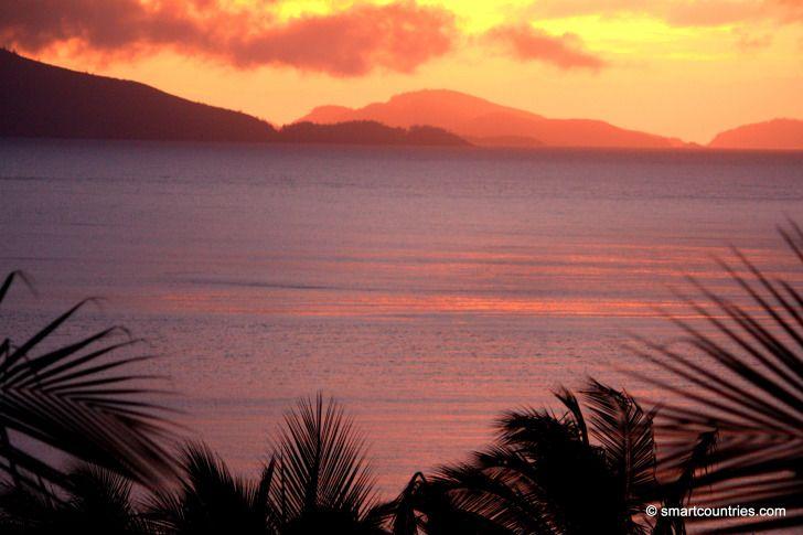 Sunset on Hamilton Island, Australia.