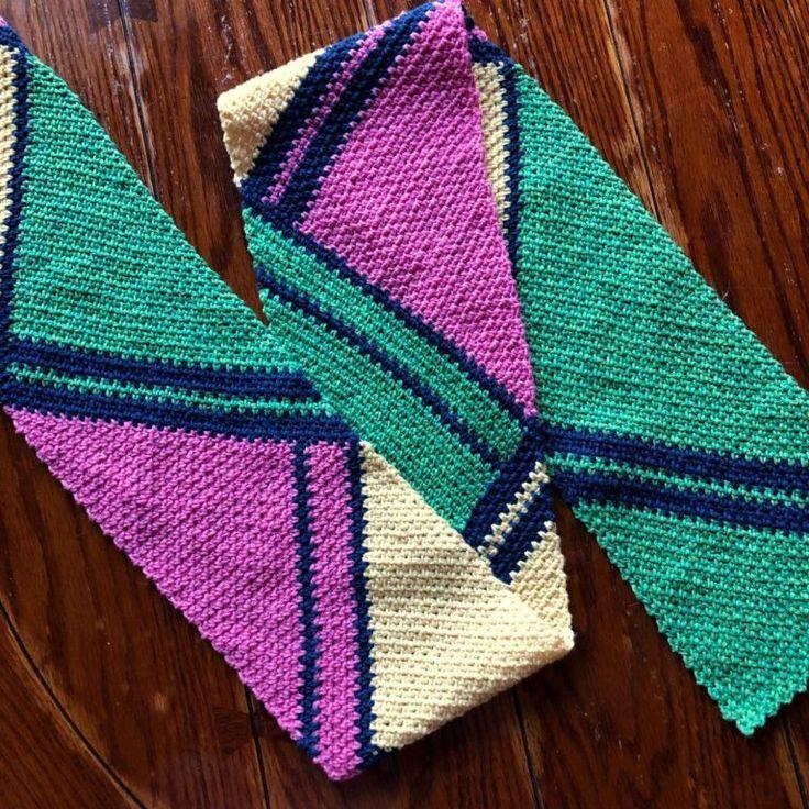 Downtown Scarf in 2020 Crochet scarf easy, Crochet
