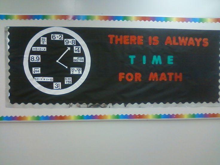 Middle School math Bulletin Board Ideas | Time for Math Bulletin Board