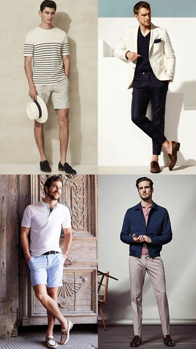 Men's Tailored Shorts and Chinos Riviera Style Outfits Lookbook Inspiration
