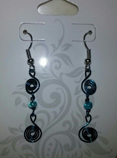 Blue swirls w/blue bead