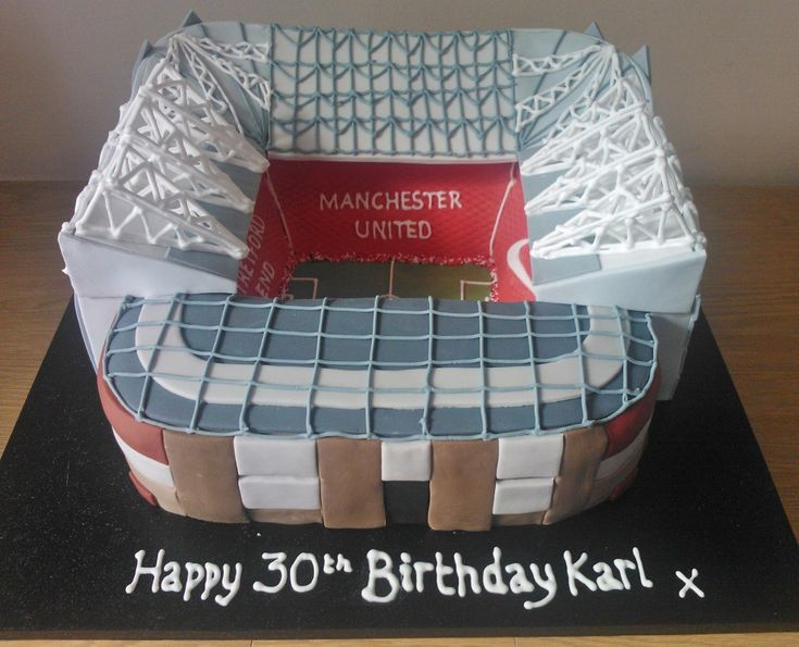 Old Trafford birthday cake for a Manchester United fan!!!