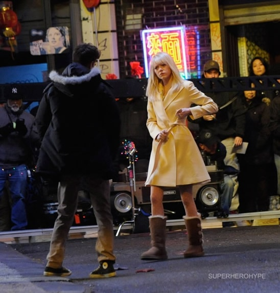 The Amazing Spider-Man 2 Set Photo in Chinatown