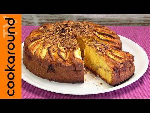 Torta di mele con amaretti e yogurt / Ricette dolci alle mele - YouTube