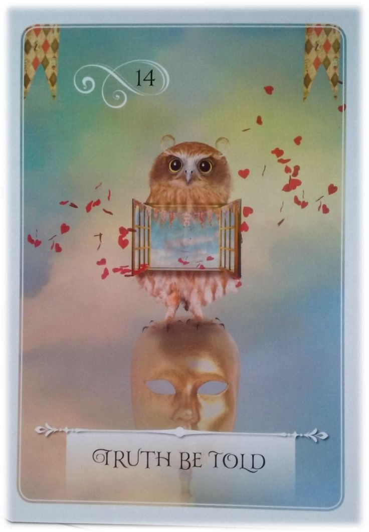 Truth Be Told ~ Wisdom of the Oracle divination card by Colette Baron-Reid