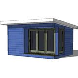 Shed Plans | 12x16 modern shed front