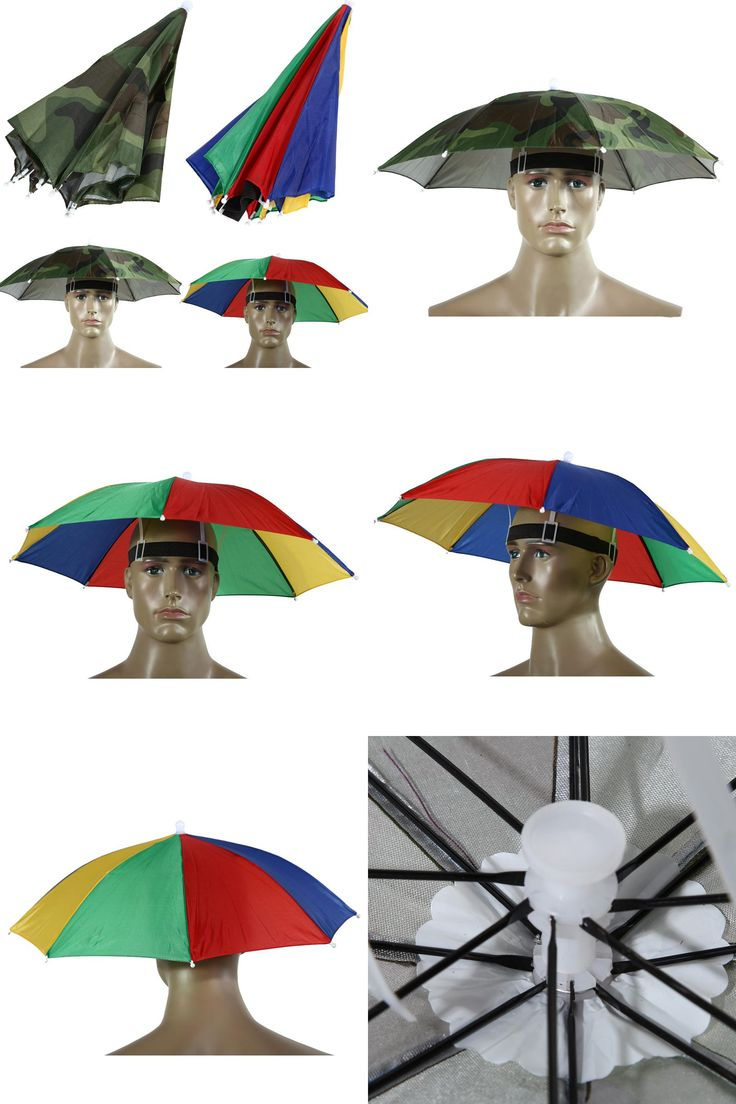 [Visit to Buy] Portable 55cm Umbrella Hat Sun Shade Lightweight Camping Fishing Hiking Festivals Outdoor Brolly Free Shipping #Advertisement