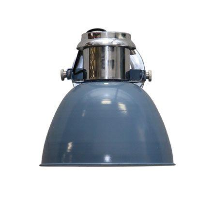 wandlamp industrieel staalblauw, leverbaar in 20 en 28cm