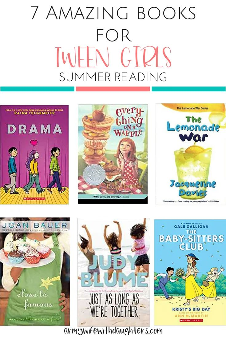 7 amazing books for tween girls to read this summer