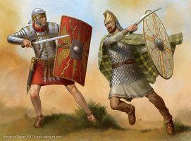 Roman Soldier versus Dacian warrior - http://www.inblogg.com/roman-soldier-versus-dacian-warrior/