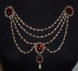 Sapphire & Sage - Renaissance Medieval Bodice Jewelry Collection-has multiple hanging options