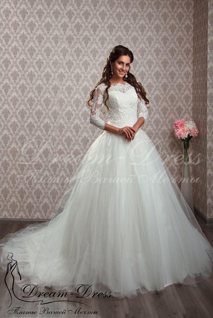 Serena / Пышное свадебное платье, французское кружево расшито вручную. В наличии изделие в цвете айвори, размер 42-44-46, на спине молния. На заказ возможен любой цвет и размер.