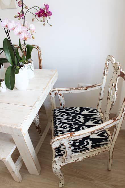 Sala de jantar: Salas de jantar rústicas por alma portuguesa