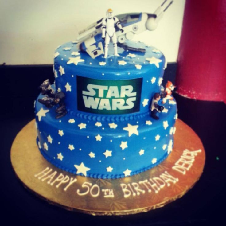 """""""The force is strong with this one."""" Nothing beats a Star Wars cake for your birthday! #starwars #cake #happybirthday"""