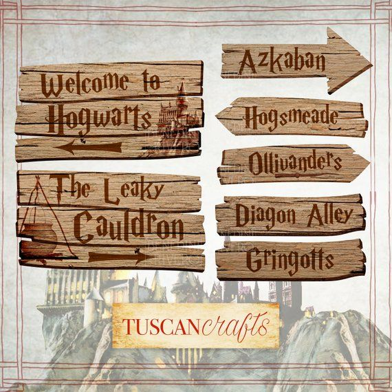 Harry Potter Party Printables Signs Printable Wood Signs Harry Potter Part Harry Potter Party Decorations Harry Potter Sign Creative Birthday Party Ideas