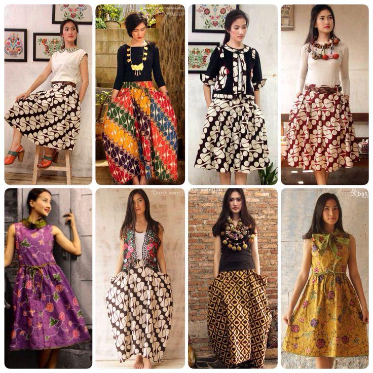 Lovely! Bottom, and Dresses by Amarillis Batik. I ❤️Batik
