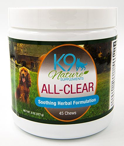 Dog Allergy Supplement ALL-CLEAR Herbal Anti Itch Treats Provide Natural Relief from Seasonal Allergies Reducing Constant Scratching & Other Symptoms in Dogs 45 Tasty Soft Chews  GIVE YOUR DOG RELIEF! Stop your dog's suffering from dog allergies. Alleviate the constant skin itching, scratching, biting at paws, watery eyes, and rubbing on the carpet or furniture.  COMFORTABLE HAPPY PET! A perfect blend of herbs calms down allergy symptoms and provides the relief your dog needs. Give the...