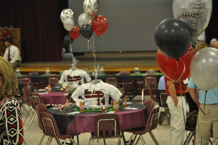 53 best images about baseball banquet ideas on pinterest for Athletic banquet decoration ideas