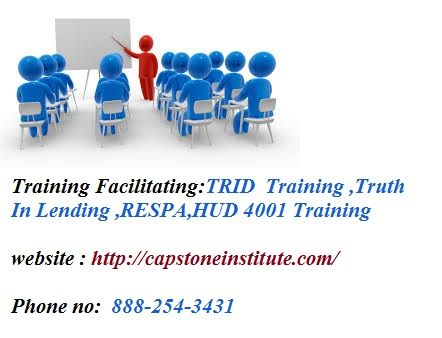 Provide #HUD4001Training , #HUD4001changes ,#RESPA #TRIDTraining ,#TruthInLending https://capstoneinstitute.com/product/in-depth-review-of-the-good-faith-estimate-truth-in-lending-hud-1-settlement-statement/