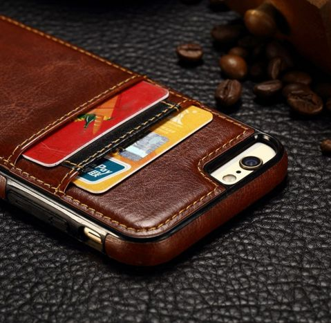 """Luxury Leather Wallet Card Back Case Cover For iPhone 6 / 6S / 6S Plus """" FREE SHIPPING """""""