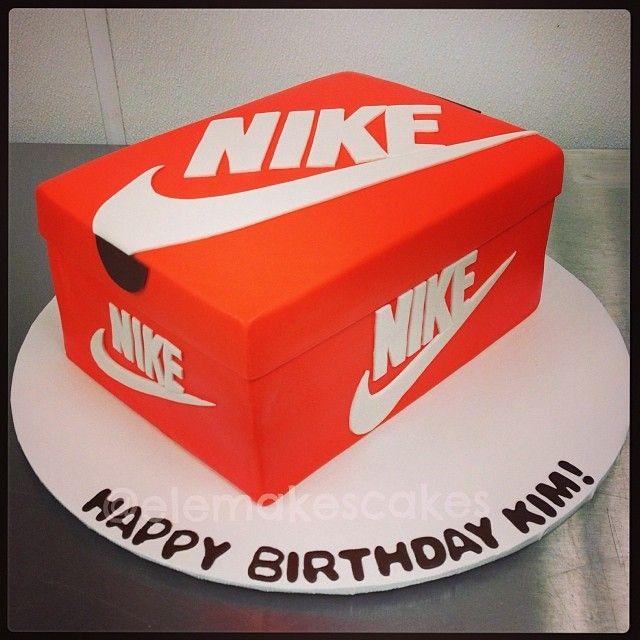 Nike sneakers box cake