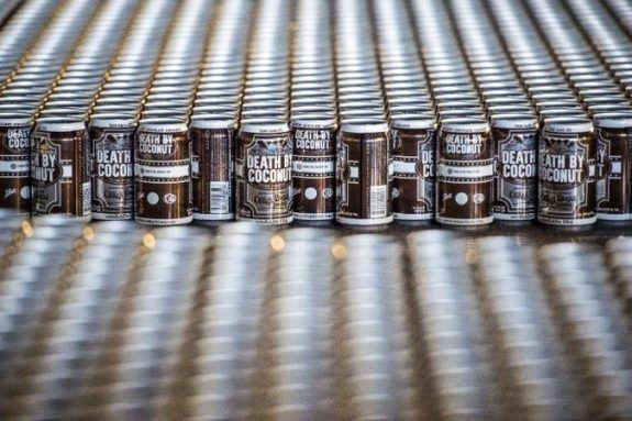 Oskar Blues Death By Coconut Irish Porter ready to strike again this month
