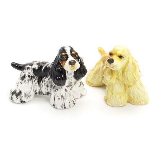 American Cocker Spaniel Dog Ceramic Figurine Salt Pepper Shaker 00036 Ceramic Handmade Dog Lover Gift Collectible Home Decor Art and Crafts by Cocker Spaniel - madamepOmm -. $59.00. American Cocker Spaniel Dog Lover Ceramic Original Handmade Hand Paint Salt and Pepper Shaker Figurine Ceramic Home Decor Collectibles  Made of ceramic porcelain high fired interior apply clear under-glaze, food safe painted with attention hand painted acrylic paint then apply clear gloss pro...