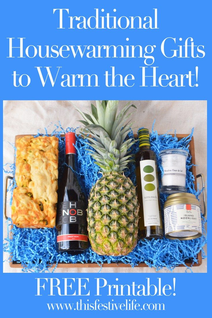 Not sure what to give for a housewarming gift? This Festive Life has suggestions for traditional housewarming gifts to warm the heart. Including a FREE Printable! | thisfestivelife.com