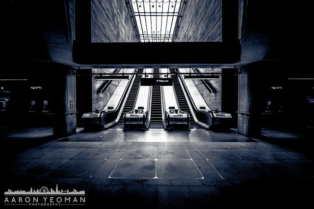 Bermondsey Underground Station, London by Aaron Yeoman at www.aaronyeomanphotography.co.uk