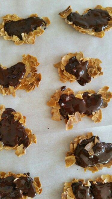 Amandel chocolade koekjes