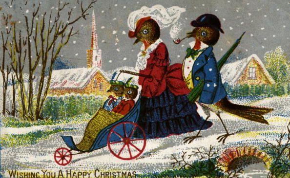 Christmas Robins - 9 Delightfully Weird and Whimsical Vintage Christmas Cards