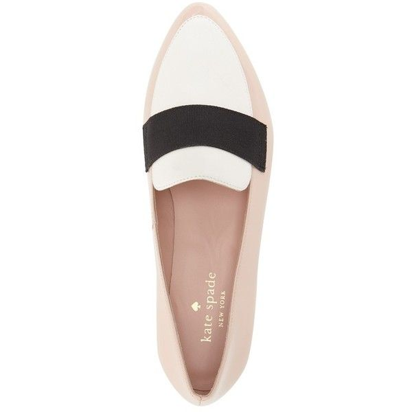 Women's Kate Spade New York 'Corina' Pointy Toe Loafer found on Polyvore featuring shoes, loafers, flats, zapatos, loafer flats, flat pump shoes, flat pumps, kate spade shoes and pointed toe flats