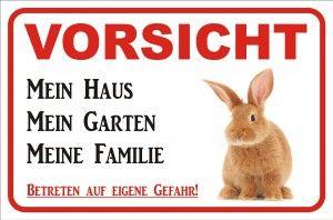 warnschild kaninchen zaun                                                                                                                                                                                 Mehr