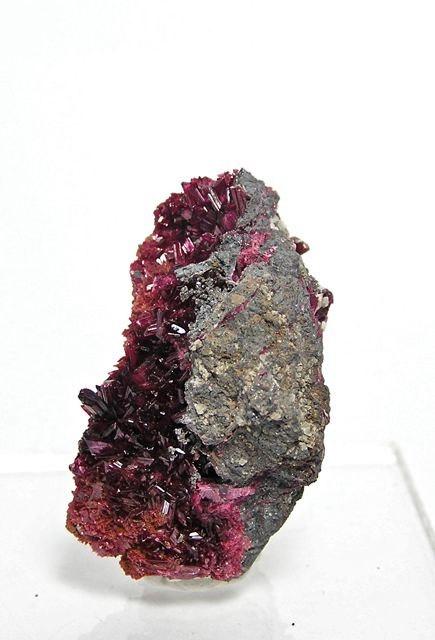 Deep Reddish Purple Erythrite Crystals Mineral by FenderMinerals,
