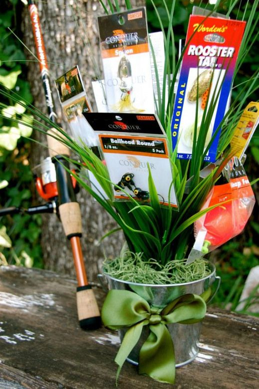 Fisherman's Bouquet  Bouquet of fishing lures by BouquetsBySarah $35.00 #giftbasket #gift #basket #for #boyfriend