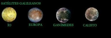 En 1610 Galileo descubrió los cuatro satélites de Jupiter: Io, Europa, Calisto y Ganímedes. Cuando los observó por primera vez, pensó que se trataban de estrellas.