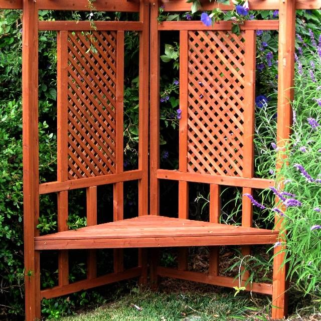 contemplation garden arbor gs00235 like idea of would prefer missioncraftman insert rather - Lattice Patio Ideas