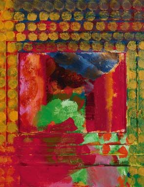 Portrait of the artist by Howard Hodgkin, 1984-87 (detail); Private Collection. © Howa