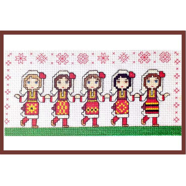 Macedonian Folk Dancers Cute <b>Girls</b> Cross Stitch PDF Pattern | Etsy ...