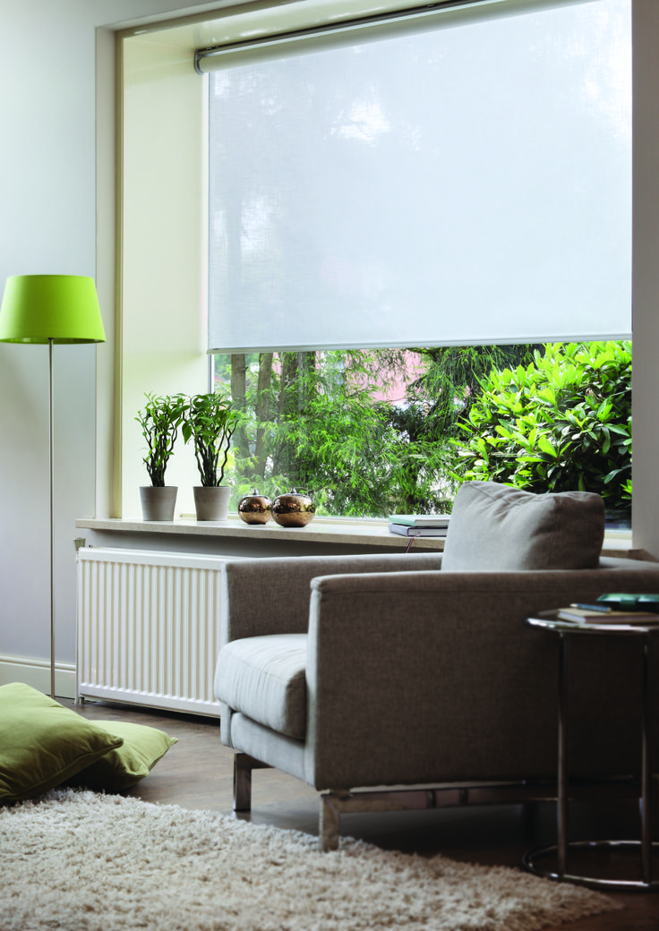 Verosol roller blinds have a contemporary and modern feel with the practicality of regulating light and heat.