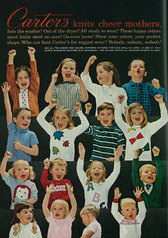 1962 Ad, Carter's Children's Clothing in Knits | Flickr - Photo Sharing!